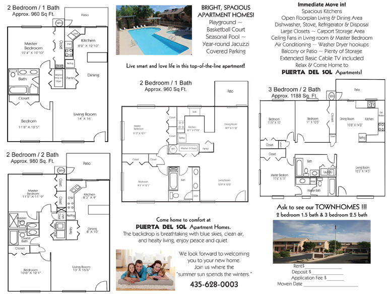 Puerta Del Sol Apartments Are Conveniently Located At The Corner Of Valley View West Indian Hills Drive Offering Ious
